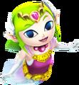 Hyrule Warriors Legends Toon Zelda Ghost Zelda (Render)