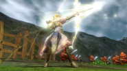 Hyrule Warriors Rapier Transformed in the Bow of Light (Screenshot)