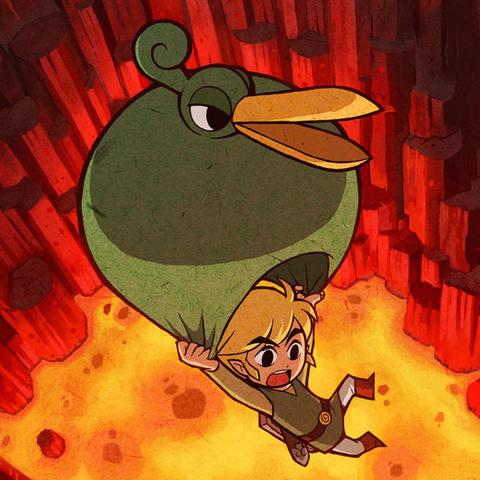 File:Link & Ezlo Cave of Flames.png