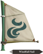 Hyrule Warriors Legends Sail Windfall Sail (Render)