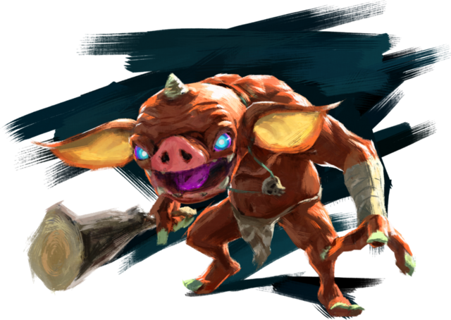 File:Breath of the Wild Artwork Red Bokoblin (Official Artwork).png