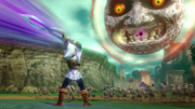 Hyrule Warriors Mask Fierce Deity Link VS Skull Kid & The Moon (Focus Spirit Attack)