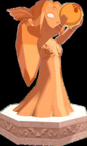 File:The Wind Waker Golden Goddess Statues Din's Statue (Render).png