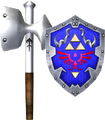 Megaton Hammer and Hylian Shield (Soul Calibur II).png