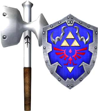 File:Megaton Hammer and Hylian Shield (Soul Calibur II).png