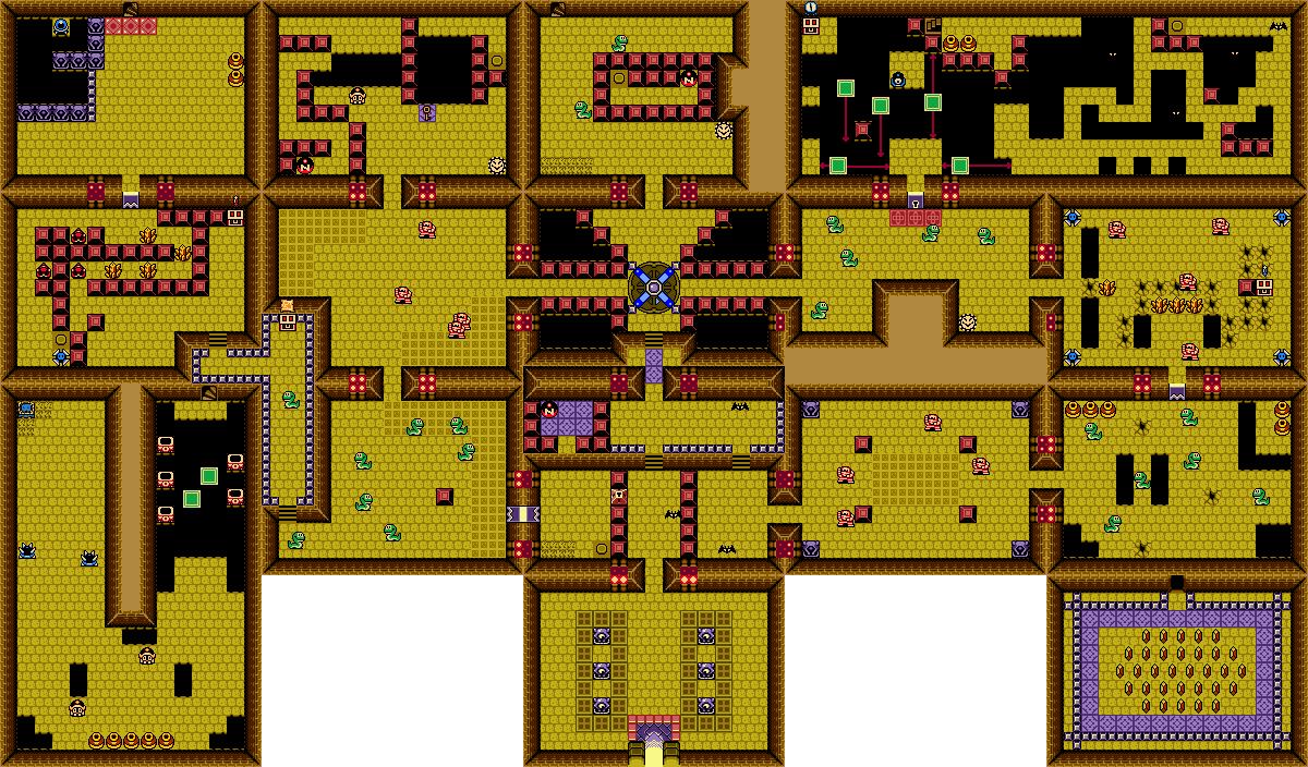 Ancient ruins oracle of seasons zeldapedia fandom for Floor 5 boss map