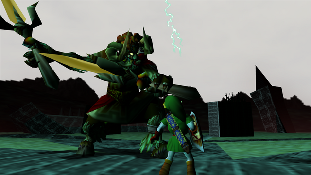 File:Link vs. Ganon (Ocarina of Time).png