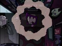 Bird's eye view of Gaz's room