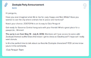 Zootopia Party Announcement