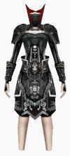 Fujin-black wolf hunter armor-female