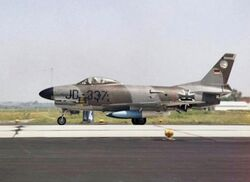 German F-86K JG 74 on runway 1965