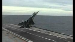 MiG 29K LANDING on Admiral Gorshkov Aircraft Carrier RARE VIDEO