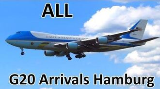 G20 Hamburg ALL Government Presidential Aircraft Arrivals - Planespotting at Hamburg (2017)