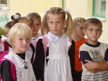 Albanian children at school