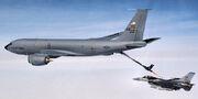 MadDill AFB KC-135 refueling an Eielson 354th FW F-16