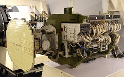 F-16 Flight Test Radar, later designated AN-APG-66, Westinghouse, 1974 - National Electronics Museum - DSC00411