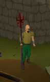 Dragon spear equiped