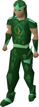 Guthix blessed d'hide armour equipped