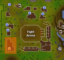 Fight arena bar location