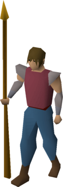 Gilded spear equipped