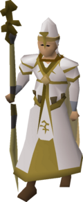 Bandos vestments equipped