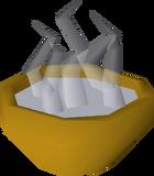 Bowl of hot water detail