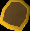 Wooden shield (g) detail