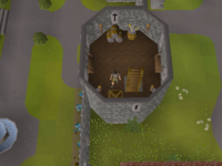 Cryptic clue - search crate left tower lumbridge