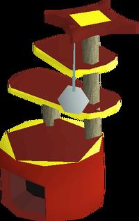 Mahogany scratching post built