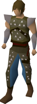 Studded leather armour (t) equipped