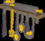 Teak shelves 2 (utensils) built