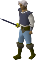 Mithril longsword equipped