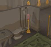 Broken magical lamp