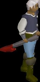 Dragon harpoon equipped