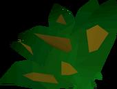 Grimy guam leaf detail