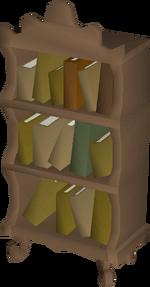 Mahogany bookcase built