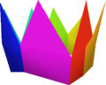 Rainbow partyhat detail