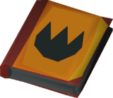 Tome of fire (empty) detail