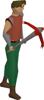 Dragon pickaxe equipped