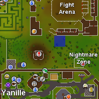 Hot cold clue - northwest of NMZ map