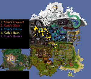 Xeric's talisman locations