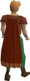 Red cape equipped
