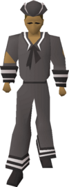 Grey naval set equipped