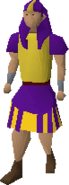 Purple menaphite robes with kilt equipped