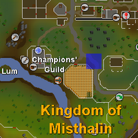 Hot cold clue - south of varrock map