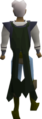 Lunar cape equipped