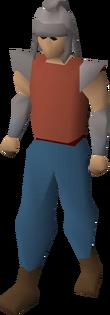 Dwarven helmet equipped
