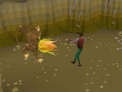Fighting chocolate demon
