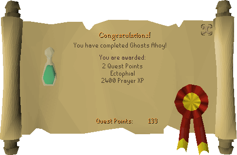 Ghosts Ahoy reward scroll