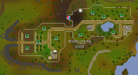 Woodcutting Guild map